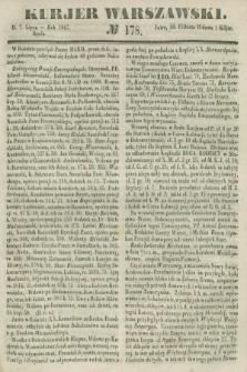 Kurjer Warszawski. 1847, № 178 (7 lipca)