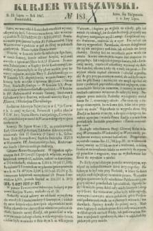 Kurjer Warszawski. 1847, № 183 (12 lipca)