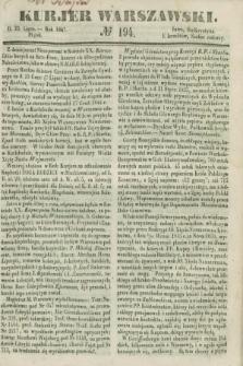 Kurjer Warszawski. 1847, № 194 (23 lipca)