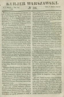 Kurjer Warszawski. 1847, № 206 (4 sierpnia)