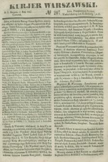 Kurjer Warszawski. 1847, № 207 (5 sierpnia)