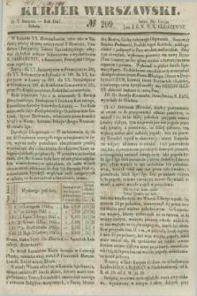 Kurjer Warszawski. 1847, № 209 (7 sierpnia)