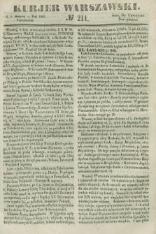 Kurjer Warszawski. 1847, № 211 (9 sierpnia)