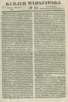 Kurjer Warszawski. 1847, № 213 (11 sierpnia)