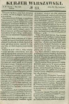 Kurjer Warszawski. 1847, № 223 (22 sierpnia)