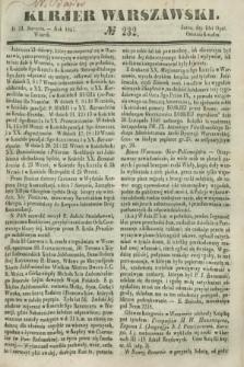 Kurjer Warszawski. 1847, № 232 (31 sierpnia)