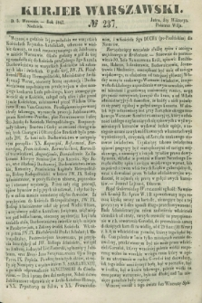 Kurjer Warszawski. 1847, № 237 (5 września)