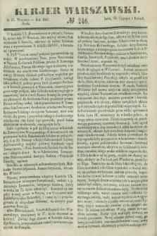 Kurjer Warszawski. 1847, № 246 (15 września)
