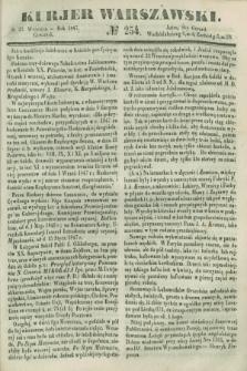 Kurjer Warszawski. 1847, № 254 (23 września)