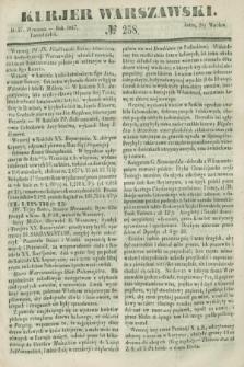 Kurjer Warszawski. 1847, № 258 (27 września)