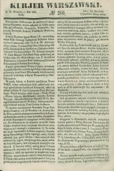 Kurjer Warszawski. 1847, № 260 (29 września)