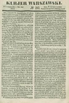 Kurjer Warszawski. 1847, № 263 (2 października)