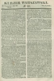 Kurjer Warszawski. 1847, № 266 (5 października)
