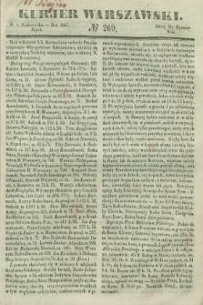 Kurjer Warszawski. 1847, № 269 (8 października)