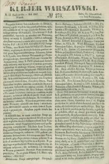 Kurjer Warszawski. 1847, № 273 (12 października)