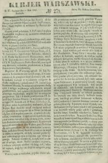 Kurjer Warszawski. 1847, № 278 (17 października)