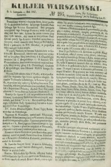 Kurjer Warszawski. 1847, № 295 (4 listopada)
