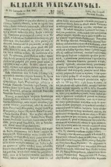 Kurjer Warszawski. 1847, № 305 (14 listopada)