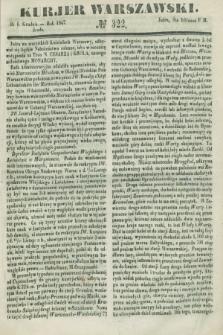 Kurjer Warszawski. 1847, № 322 (1 grudnia)