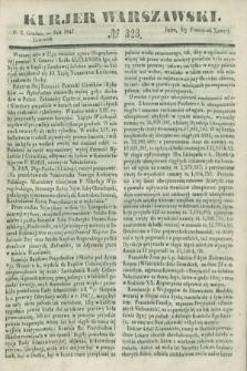 Kurjer Warszawski. 1847, № 323 (2 grudnia)