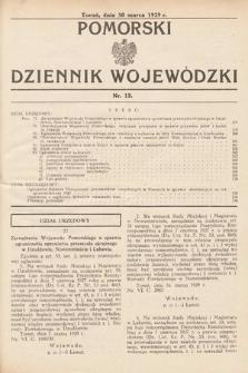Pomorski Dziennik Wojewódzki. 1929, nr12