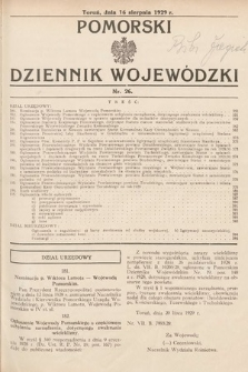 Pomorski Dziennik Wojewódzki. 1929, nr26