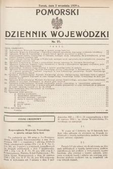 Pomorski Dziennik Wojewódzki. 1929, nr27