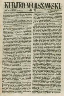 Kurjer Warszawski. 1858, № 20 (22 stycznia)