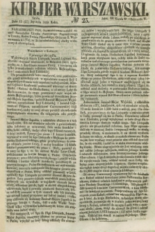 Kurjer Warszawski. 1858, № 25 (27 stycznia)