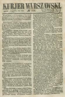 Kurjer Warszawski. 1858, № 116 (2 maja)