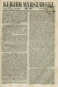 Kurjer Warszawski. 1858, № 148 (9 czerwca)