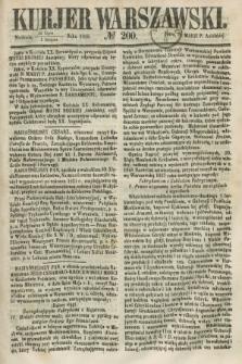Kurjer Warszawski. 1858, № 200 (1 sierpnia)