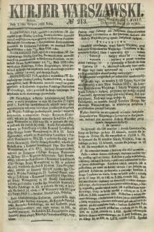Kurjer Warszawski. 1858, № 213 (14 sierpnia)