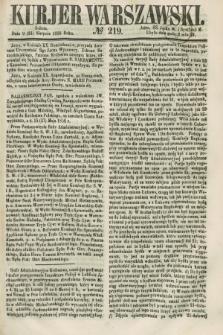 Kurjer Warszawski. 1858, № 219 (21 sierpnia)