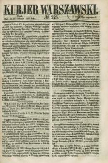 Kurjer Warszawski. 1858, № 225 (27 sierpnia)