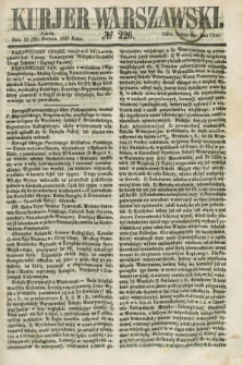 Kurjer Warszawski. 1858, № 226 (28 sierpnia)