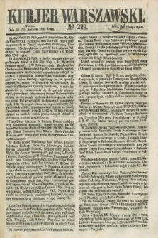 Kurjer Warszawski. 1858, № 229 (31 sierpnia)