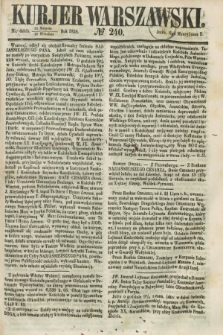 Kurjer Warszawski. 1858, № 240 (12 września)