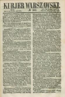 Kurjer Warszawski. 1858, № 242 (14 września)