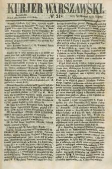 Kurjer Warszawski. 1858, № 248 (20 września)