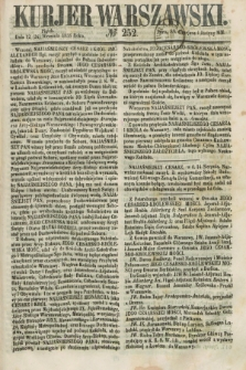 Kurjer Warszawski. 1858, № 252 (24 września)