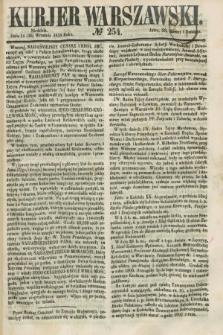 Kurjer Warszawski. 1858, № 254 (26 września)