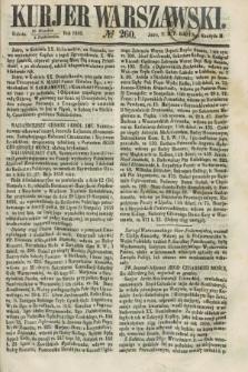 Kurjer Warszawski. 1858, № 260 (2 października)