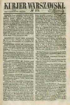 Kurjer Warszawski. 1858, № 273 (15 października)