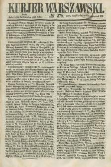 Kurjer Warszawski. 1858, № 278 (20 października)