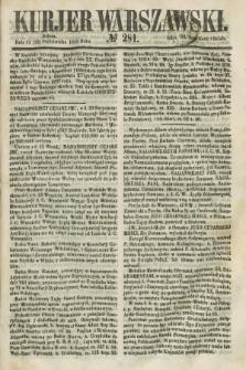 Kurjer Warszawski. 1858, № 281 (23 października)