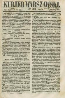 Kurjer Warszawski. 1858, № 301 (13 listopada)