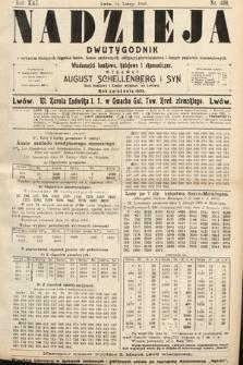 Nadzieja : dwutygodnik zwykazem bieżących ciągnień losów, listów zastawnych, obligacyj indemnizacyjnych innych papierów wartościowych : wiadomości bankowe, kolejowe, ekonomiczne. 1905, nr466