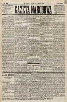 Gazeta Narodowa. 1888, nr206