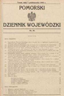 Pomorski Dziennik Wojewódzki. 1932, nr20